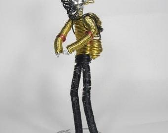 Wire Sculpture Fireman