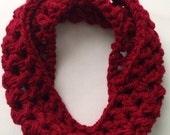 Toddler Scarf -Toddler Cowl - Toddler Scarves - Toddler Knit Scarf - Red Scarf - Girls Scarf - Girls Cowl - Christmas Pictures - Red Cowl