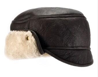 Mens Sheepskin Hat Size M, L, XL