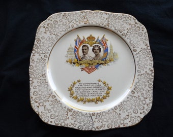 1939 Royal Visit to Canada of King George VI and Queen Elizabeth Plate.