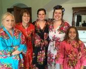 set of 3  Bridesmaid Robes  , wedding favors, Kimono Robe, Perfect bridesmaids Gift, Bath Robes, Getting ready robe