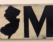 Handpainted New Jersey Home Sign Wood 24x7