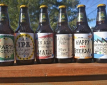Birthday Beer Labels for him- PDF file