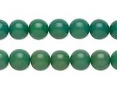 8mm Green Buri Tree Round Beads - 16 inch strand