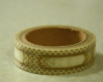 1 Roll of Japanese Washi Tape Roll- Plain Tag/ Label