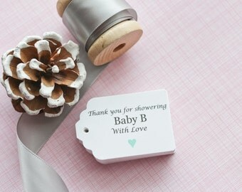 baby shower gift tags baby shower paper goods thank you tags due for