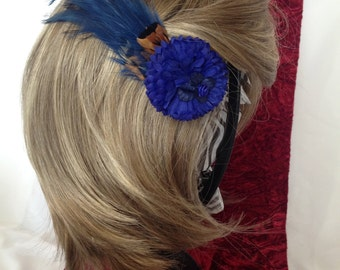 Natural Blues Flower Hair Accessory