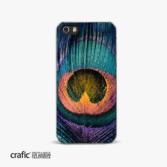 Peacock Feather iPhone Case, iPhone 5s Case, iPhone 6 Case, Wild iPhone 5c Case, BOHO iPhone 6 Case