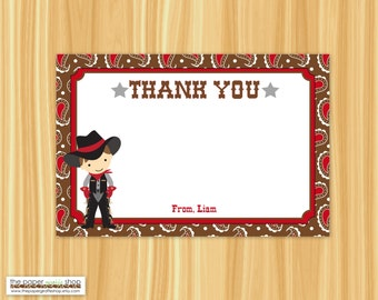 Cowboy Thank You Card | Cowboy Party | Cowboy Birthday Party | Western Party | Thank You Card