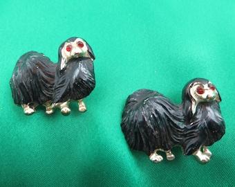 2 Vintage Pekinese Scatter Pins