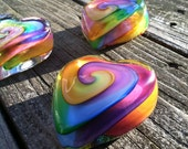 Swirled Rainbow Heart Paperweight