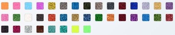 Glitter Iron On Craft Material. DIY  Cricut, Silhouette Cameo cutters