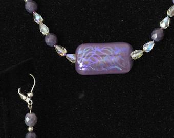 Purple Passion Necklace & Earring Set