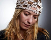 Beige Lace Scarf in Boho Style / Head and Hair kerchief  / Spring Summer Fashion / bandana / europeanstreetteam