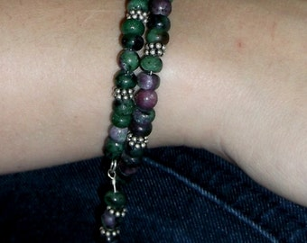Ruby in Zoisite Wrap Bracelet