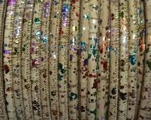 1 Meter Portuguese Cork 5mm Leather Cord, multicolor pigmentation, finding, jewelry supplies,bracelet, purse, bag, wrap bracelet - REF-23