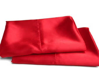 Charmeuse Satin Queen Pillowcases Solid Colors