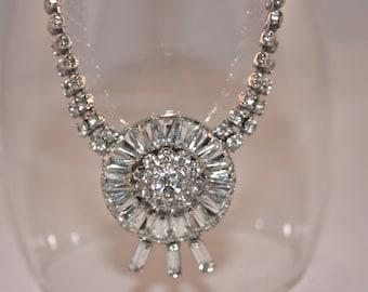 Vintage Rhinestone necklace - Vogue Pendant