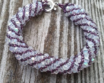 Amethyst Crystal Russian Spiral Bracelet