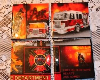 Coasters - Tile - Fireman