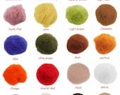 10g Bag Needle Felting Italian Carded / Batting Wool - Pick Your Colour 0.35oz