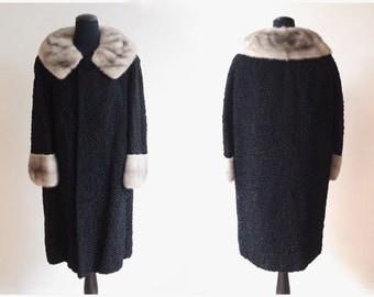 vintage Persian Lamb and MINK collar fur coat
