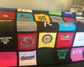 T Shirt Quilt 25 Block Memory Quilt Custom Order Quilt - Using Your Shirts-DEPOSIT ONLY