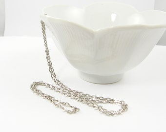 30 Inch Antique Silver Chain 30 Inch Medium Oval Silver Necklace Chain |CH2-Med-AS30