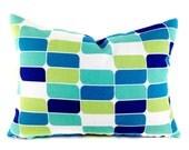 SALE Outdoor Lumbar Pillow Covers Decorative Pillow Blue Pillows Richloom Outdoor Trillium