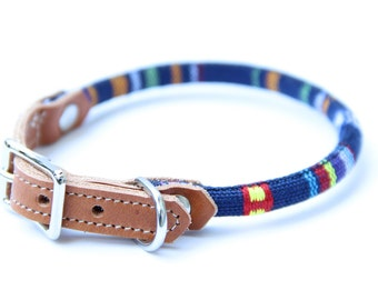 Cat Collar or Small Dog Collar - Nautical