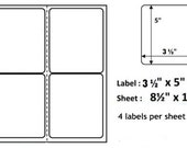 Shipping Labels - 200 4-Per-Page Shipping Labels for USPS, FEDEX, and USPS