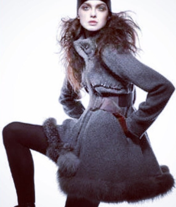 IrinaShabayeva #knits #irinashabayevaknits  are back!!!!!!#LuxebyIrina machine #knitted #sweater #coat with faux fur trim