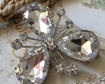 Clover Swarovski rhinestone crystals wedding bridal brooch pin, rhinestones brooch, bridal brooch, wedding brooch, bridal jewelry, accessory