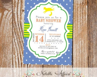 Goodnight Moon Baby Shower invitation - Goodnight Moon Party