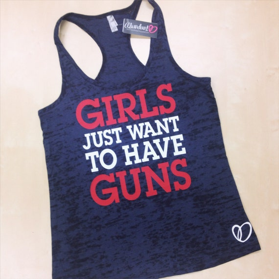Girls Just Want To Have Guns Burnout Tank // Funny Workout Tank by Abundant Heart Apparel