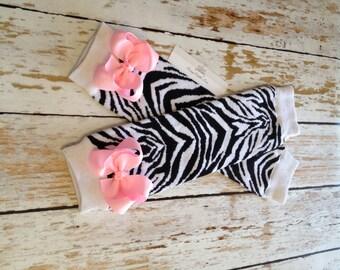 Zebra Leg Warmers, Baby Leg Warmers, Black Leg warmers, White Leg Warmers, Baby Girl Leg Warmers