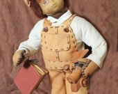 """14"""""""" Tyrone"""" Collectors Handmade Leather Doll by Cheri Culvert Casler"""