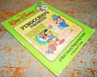 "Vintage Book, Walt Disney, ""Pinocchio's Promise"", Circus, Child's Story Book, Kids Book, A Walt Disney Beginning Reader, Vol 3, Publication"