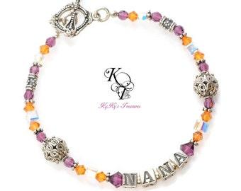 Birthstone Jewelry, Personalized Bracelet, Mothers Bracelet, Birthstone Bracelet, Personalized Bracelet, Personalized Gift