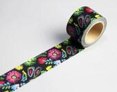 Big Size Washi Tape - Japanese Washi Tape - Masking Tape - Deco Tape - Washi Paper - Filofax - Flower