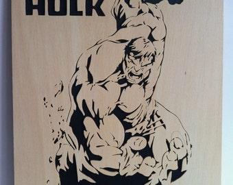 Hulk wooden decoration scrollsaw work