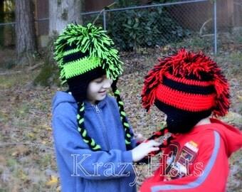 Crochet Mohawk hat.