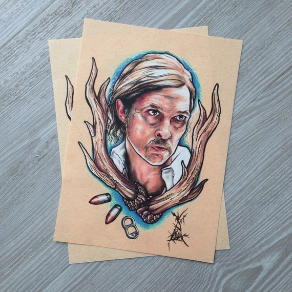 Items similar to rust cohle true detective tattoo style for True detective tattoo
