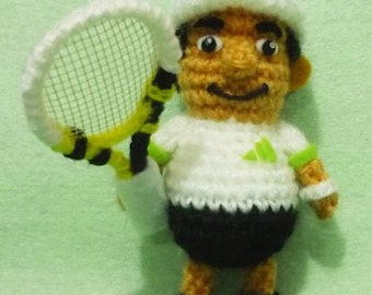 Crochet Tennis Figure amigurumi  Jo Wilfried Tsonga