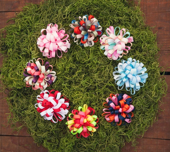 Ema Jane Loopy Hair Flower Clips