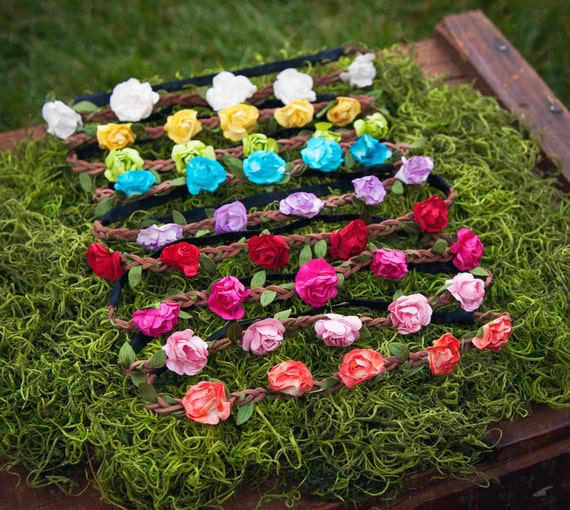 Bohemian Floral Crown Headband Set