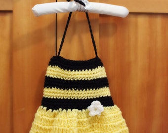 Crochet Little Bumble Bee Baby Dress - Great Photography Prop