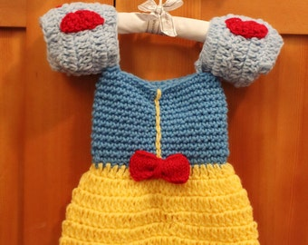 Crochet Snow White Baby Dress - Great Photography Prop