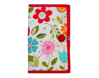 Floral Owl Stitching Wallet - Bright and Cheerful