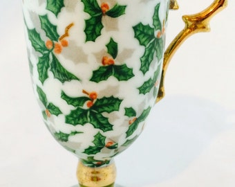 Inarco Holly Irish/Demitasse Cup - Beautiful - Made in Japan